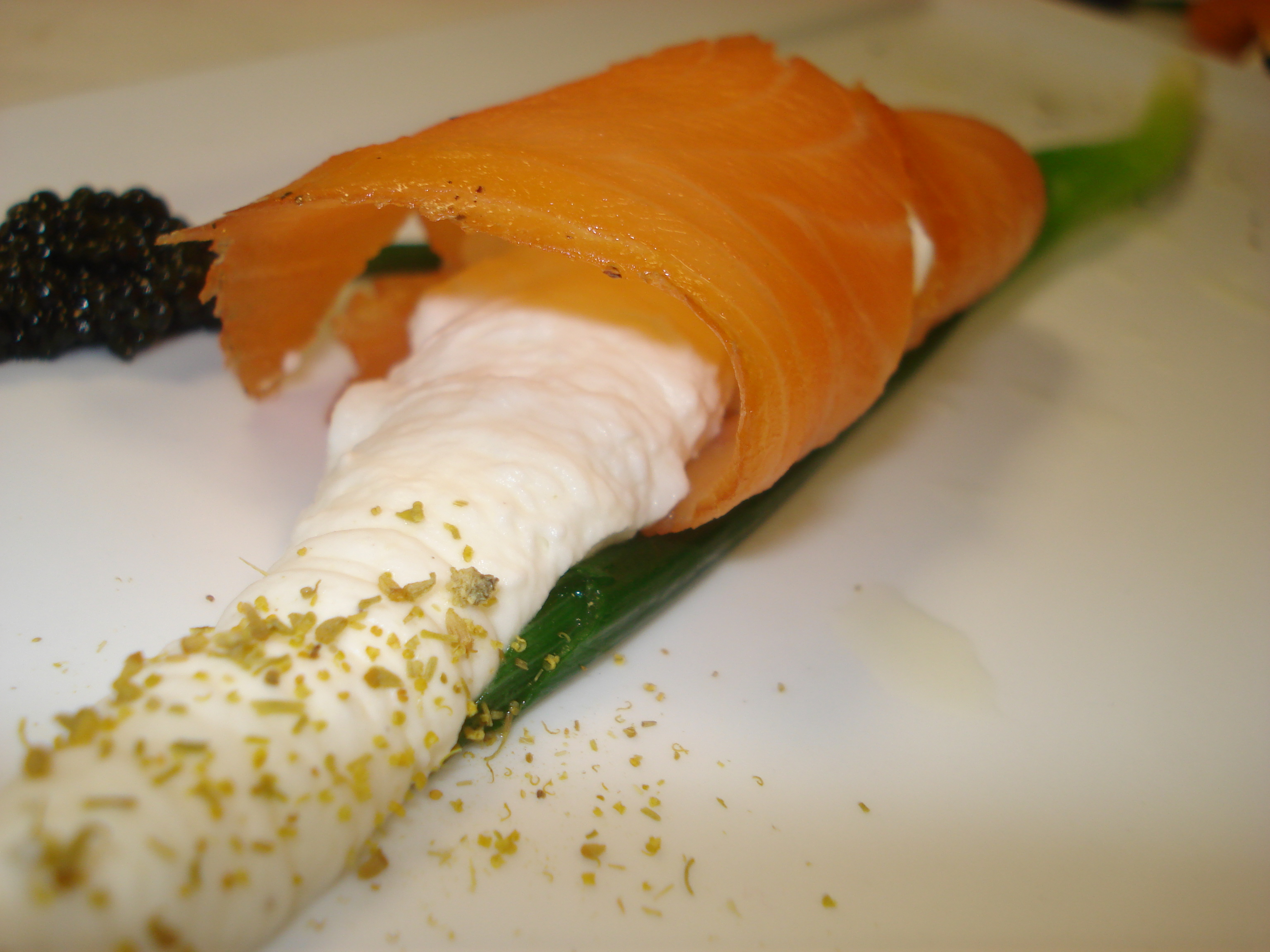 Smoked Salmon Calla Lily