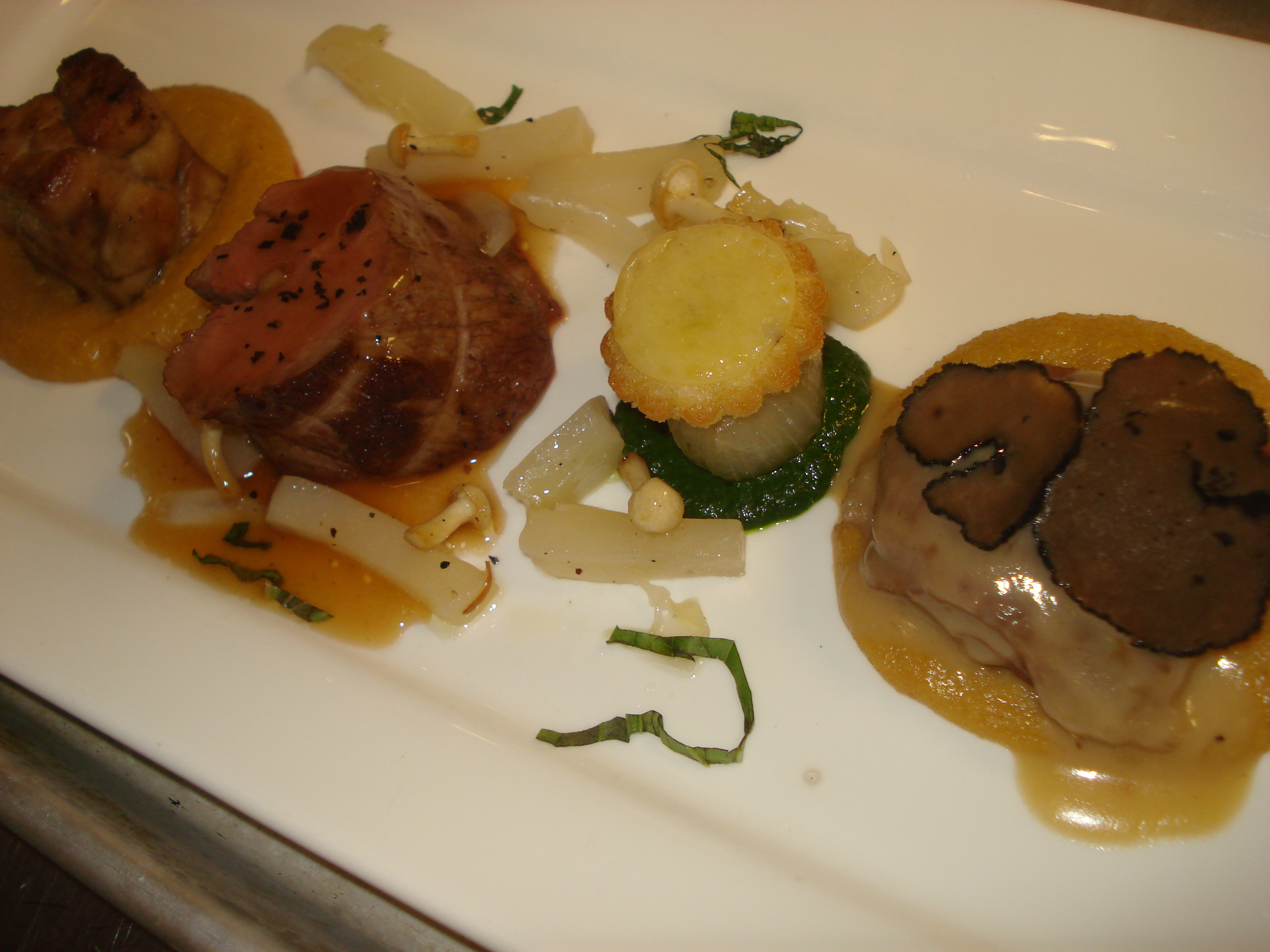 Trio of Truffled Veal Blanquette