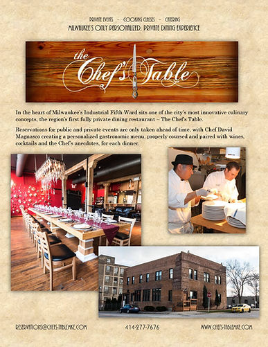 History of The Chef's Table