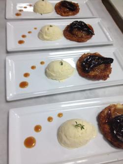 Tart Tatin, Foie Gras & Blue Chee