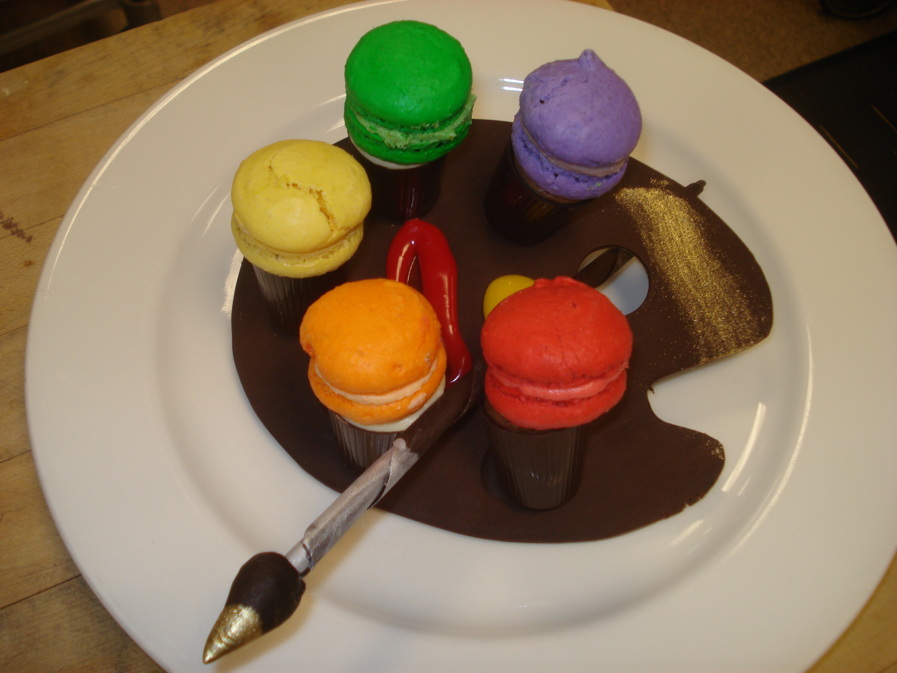 Chocolate Palette of Macaroons
