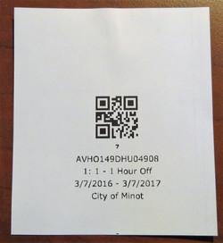 Validation Ticket