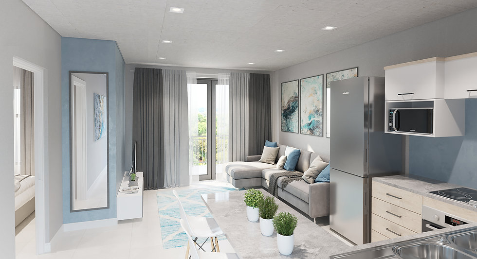 Copper Lane Apartments Centurion Living Area