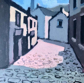 on cobbled streets I walked alone   available