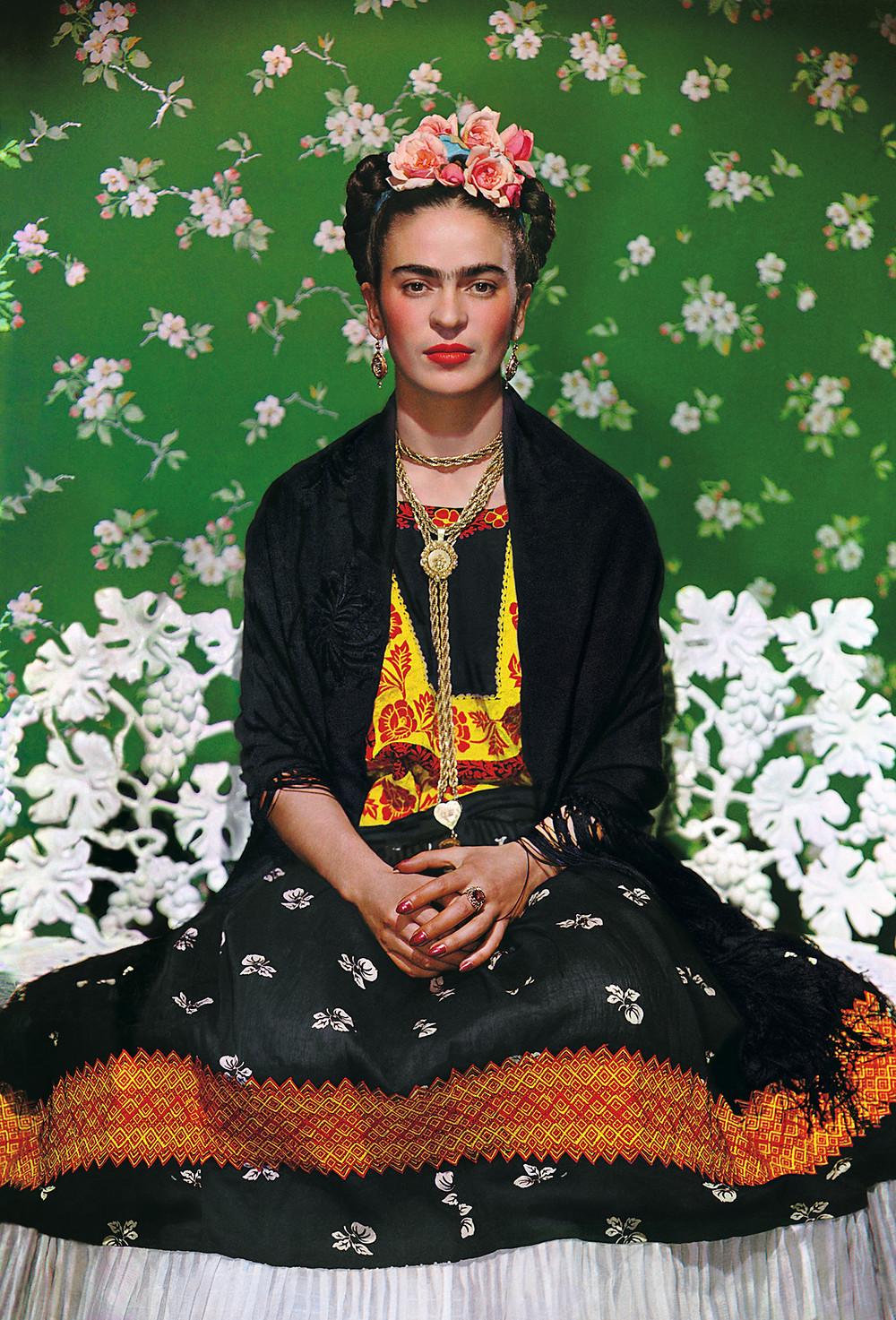 Frida on White Bench, by Nickolas Muray, 1939