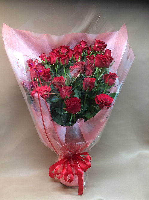 赤バラ約30本
