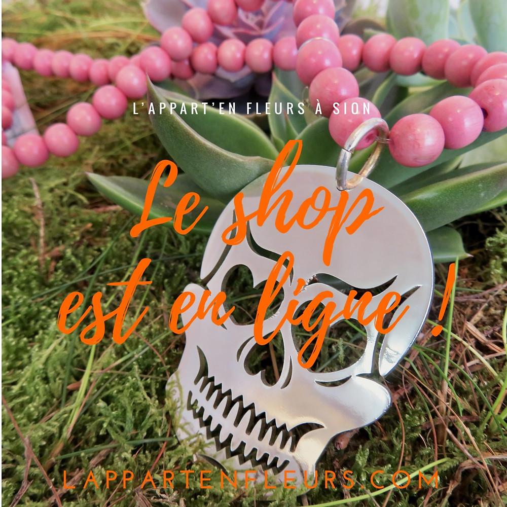Le Shop de L'Appart'en Fleurs à Sion est en ligne !
