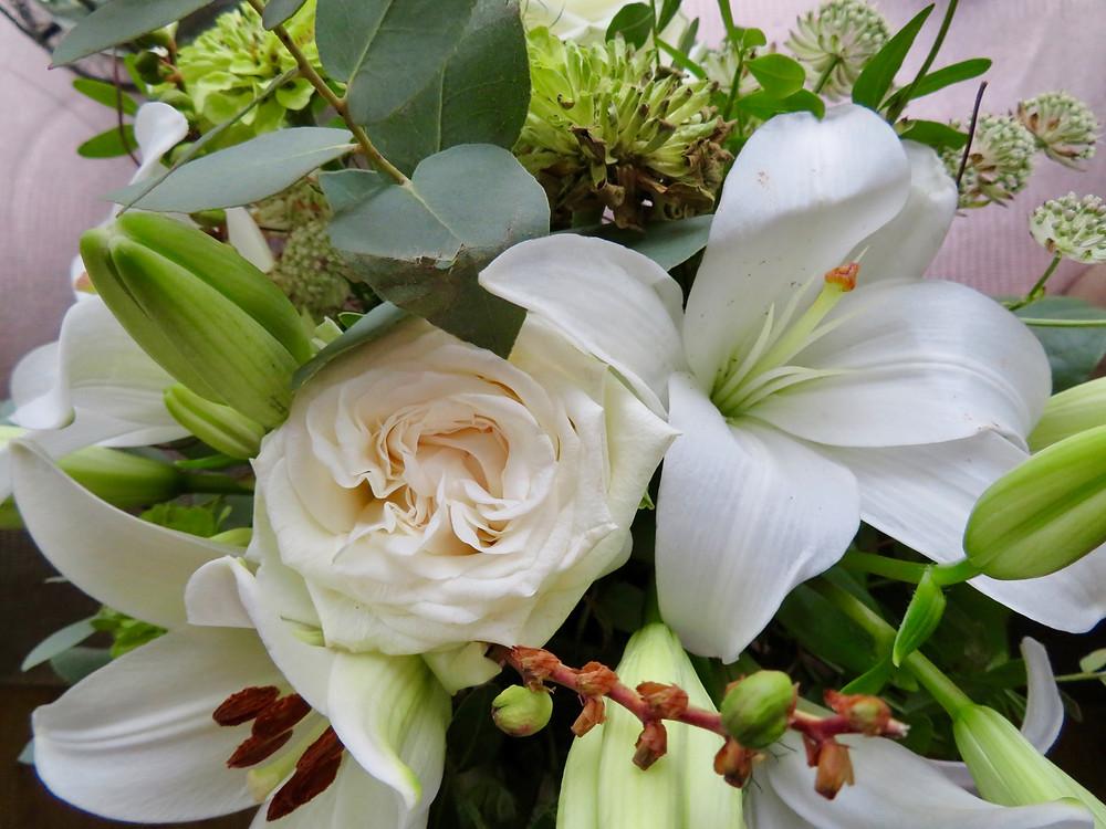 Bouquet de fleurs réalisé par Léa, notre stagiaire
