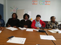 Nolwazi Ntuli, a criminologist, talks to members about child abduction and human trafficking
