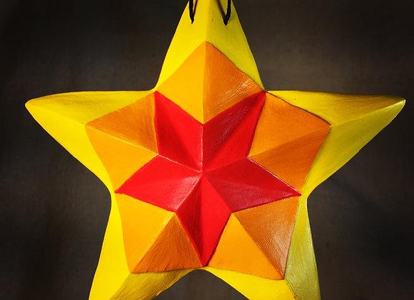 Kaleidoscope Star, Yellow Flame