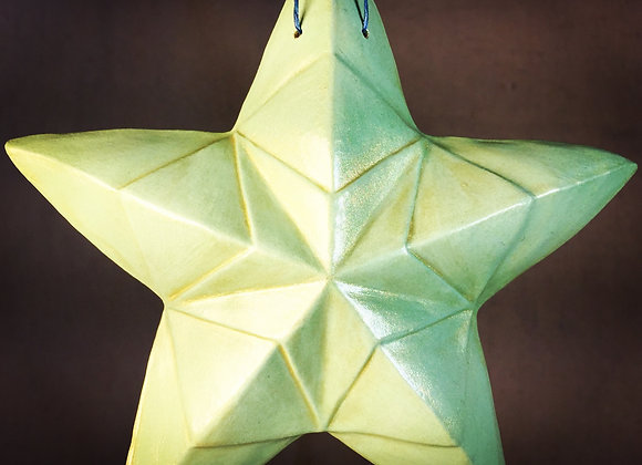 Kaleidoscope Star, Green and Gold