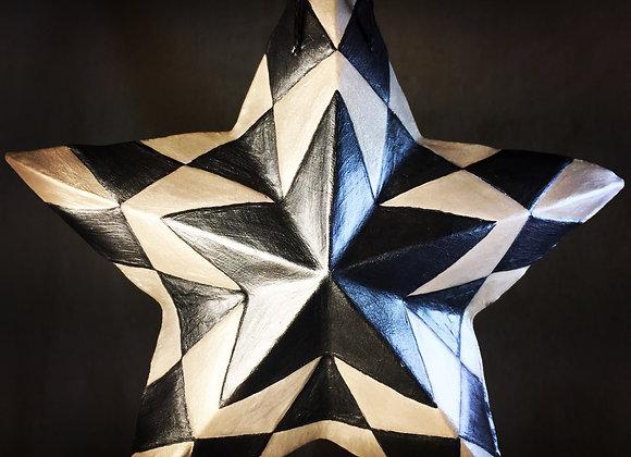 Checker Box Star, Silver
