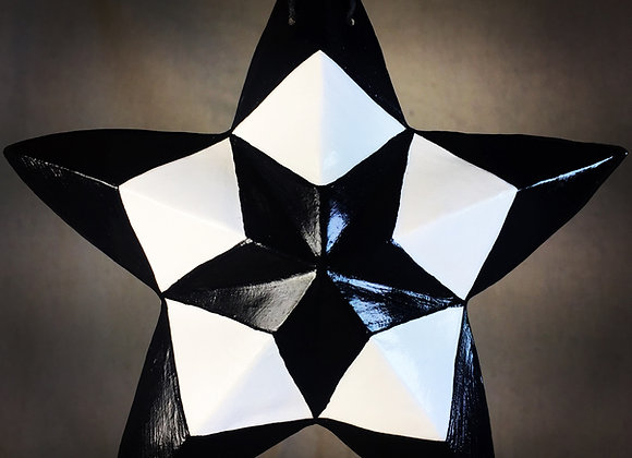 Kaleidoscope Star, Black and White