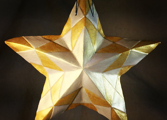Checker Box Star, Gold