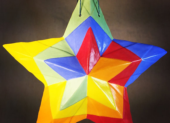 Stained Glass Star, Rainbow Color Wheel