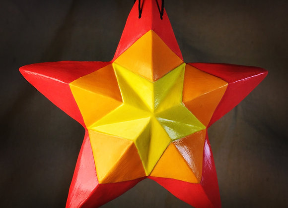 Kaleidoscope Star, Red Flame