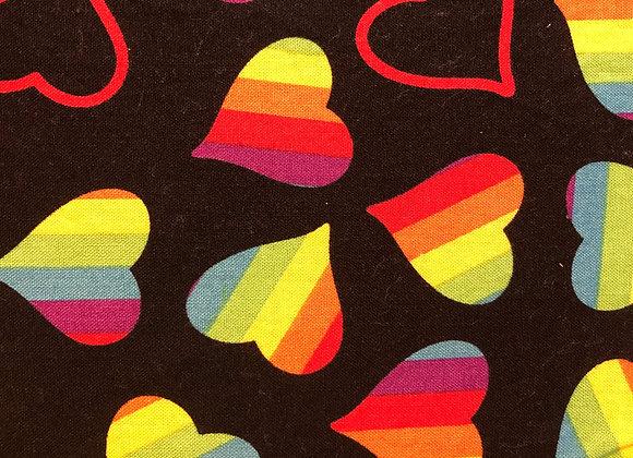 Cloth Face Mask - Rainbow Hearts