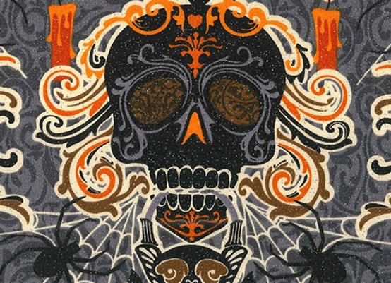 Cloth Face Mask - Skull Face