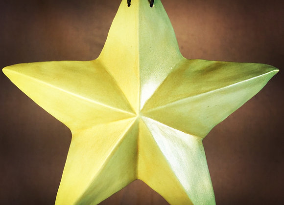 One-Sided Star, Green and Gold
