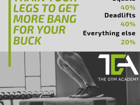 What you should do to train your legs to get more bang for your buck?