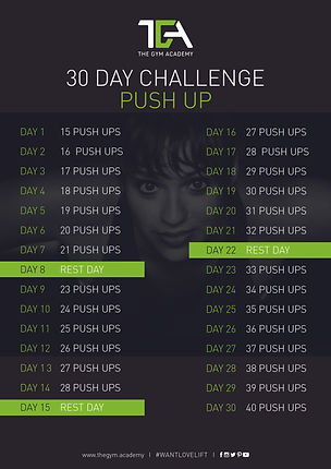 30 Day Challenge Push Up