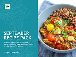 September 2020 Recipe Pack