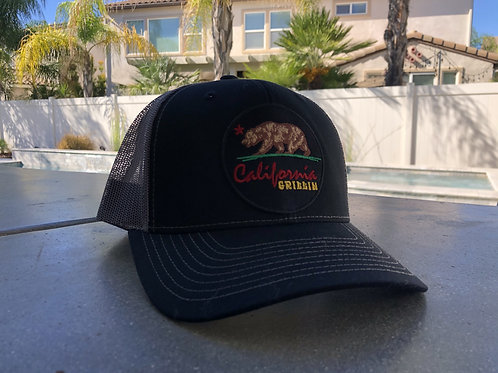 California Grillin Black and Grey Trucker Hat