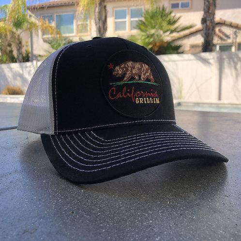 California Grillin Black and White Trucker Hat