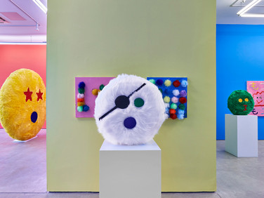 Plush Emoji Sculptures + Tea House in the Bowery