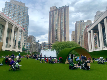 Lounge at Lincoln Center's New Lawn Installation