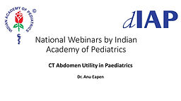 CT Abdomen Utility in Paediatrics