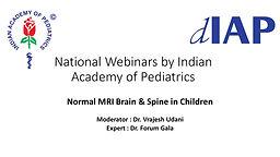 Normal MRI Brain & Spine in Children