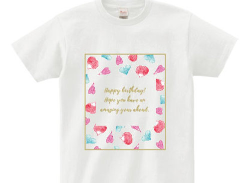 メッセージTシャツ birthday(誕生日)