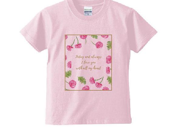 キッズメッセージTシャツ love(愛)
