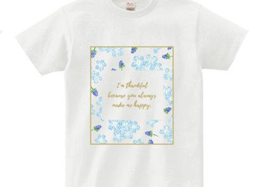 メッセージTシャツ thankful(感謝)