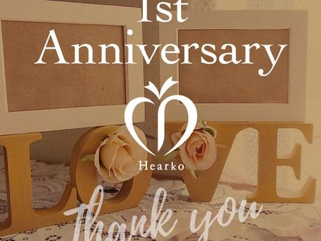 Hearko1周年ありがとうございます