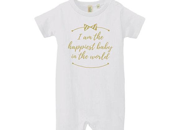 ベビーロンパース happiest baby ホワイト