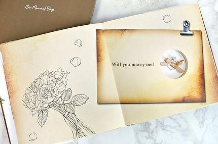 プロポーズや結婚記念日にプレゼントするならオーダーメイドのフォトブック・アルバム【結BOOK】指輪サプライズ