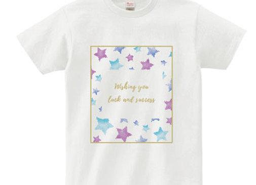 メッセージTシャツ luck(幸運)