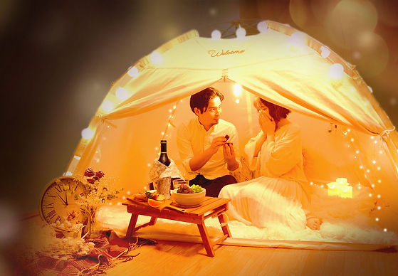 ご自宅での記念日やプロポーズに!レンタルサービス「おうちテントサプライズ」