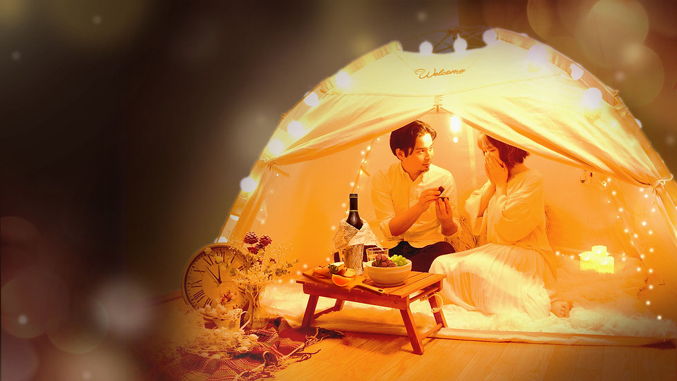 自宅でのサプライズやプロポーズに「おうちテントサプライズ」飾り付けレンタルサービス