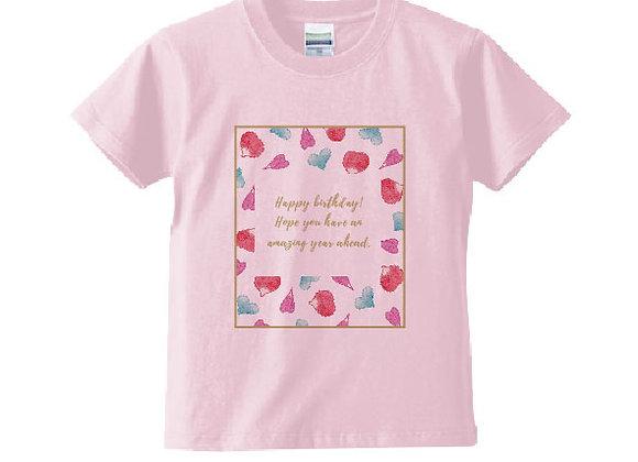 キッズメッセージTシャツ birthday(誕生日)