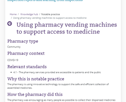 An inspector calls: GPhC highlights use of Pharmaself24 as 'notable practice'