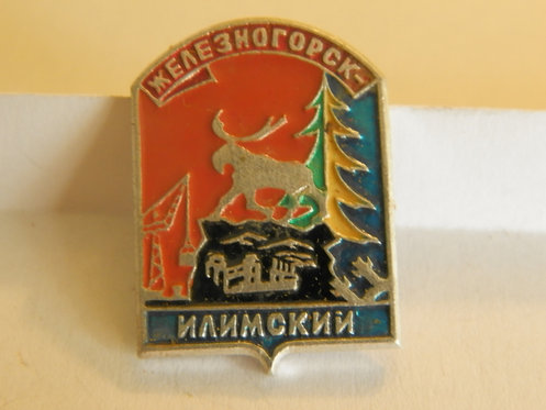 Значок г. Железногорск, СССР