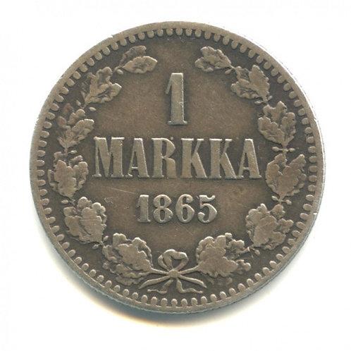 1 марка 1865 г., S, Россия для Финляндии. Александр II.