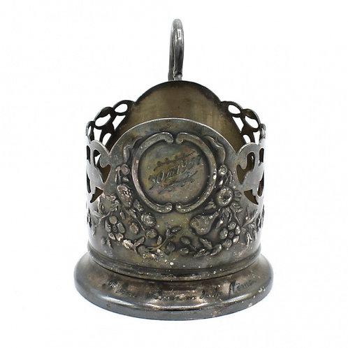 Подстаканник «Подарочный медальон», Киев, мельхиор СССР