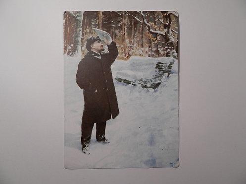 """Открытка """"Птицы поют"""" 1965 г."""