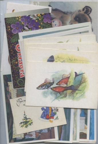 Набор почтовых карточек, открыток, 25 шт., СССР.