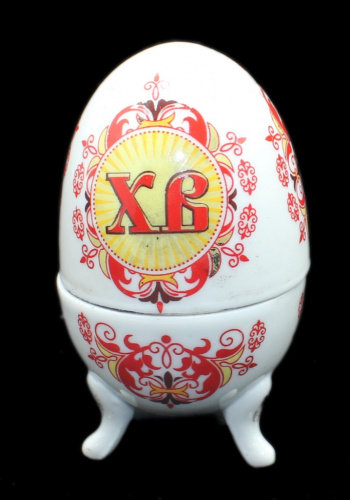 Шкатулка фарфоровое пасхальное яйцо, 9,5 см.