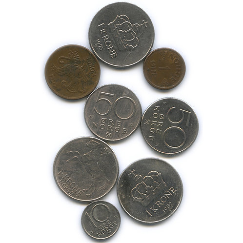 Набор монет Норвегии